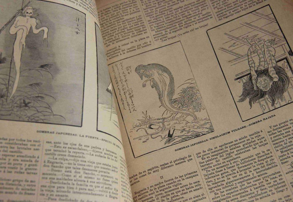 """""""Sombras japonesas"""", La Ilustración Ibérica, 1886."""