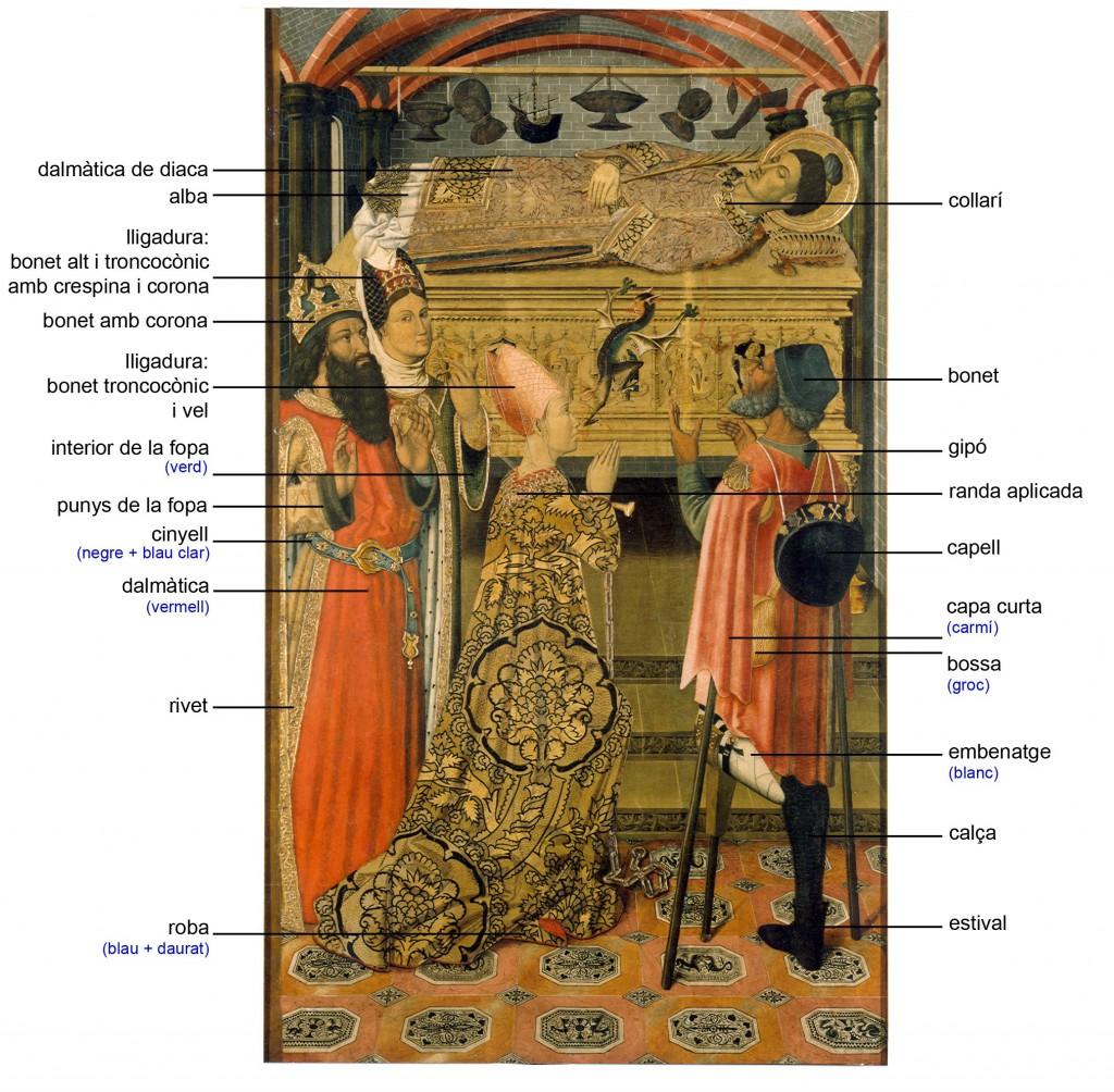 Taller dels Vergós, La princesa Eudòxia davant la tomba de sant Esteve, cap a 1495-1500