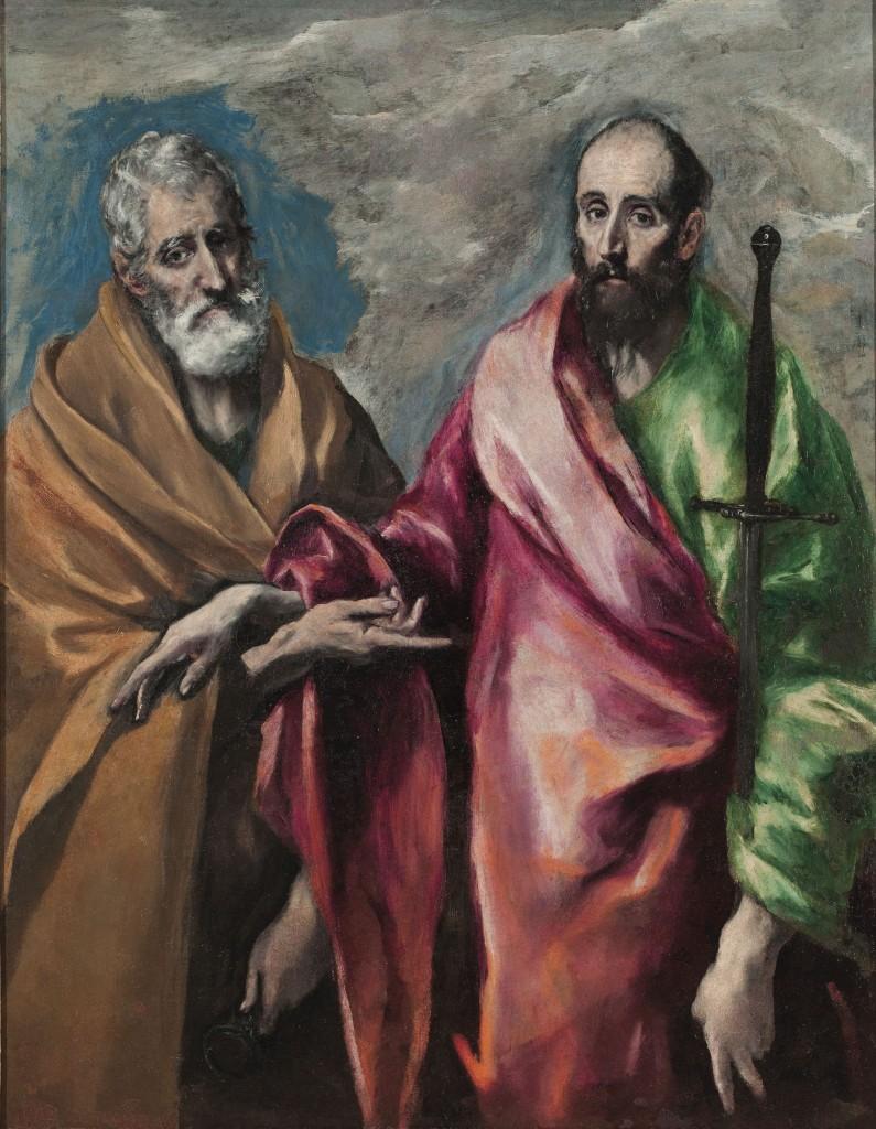 Doménikos Theotokópoulos, llamado El Greco, San Pedro y san Pablo, 1590-1600.