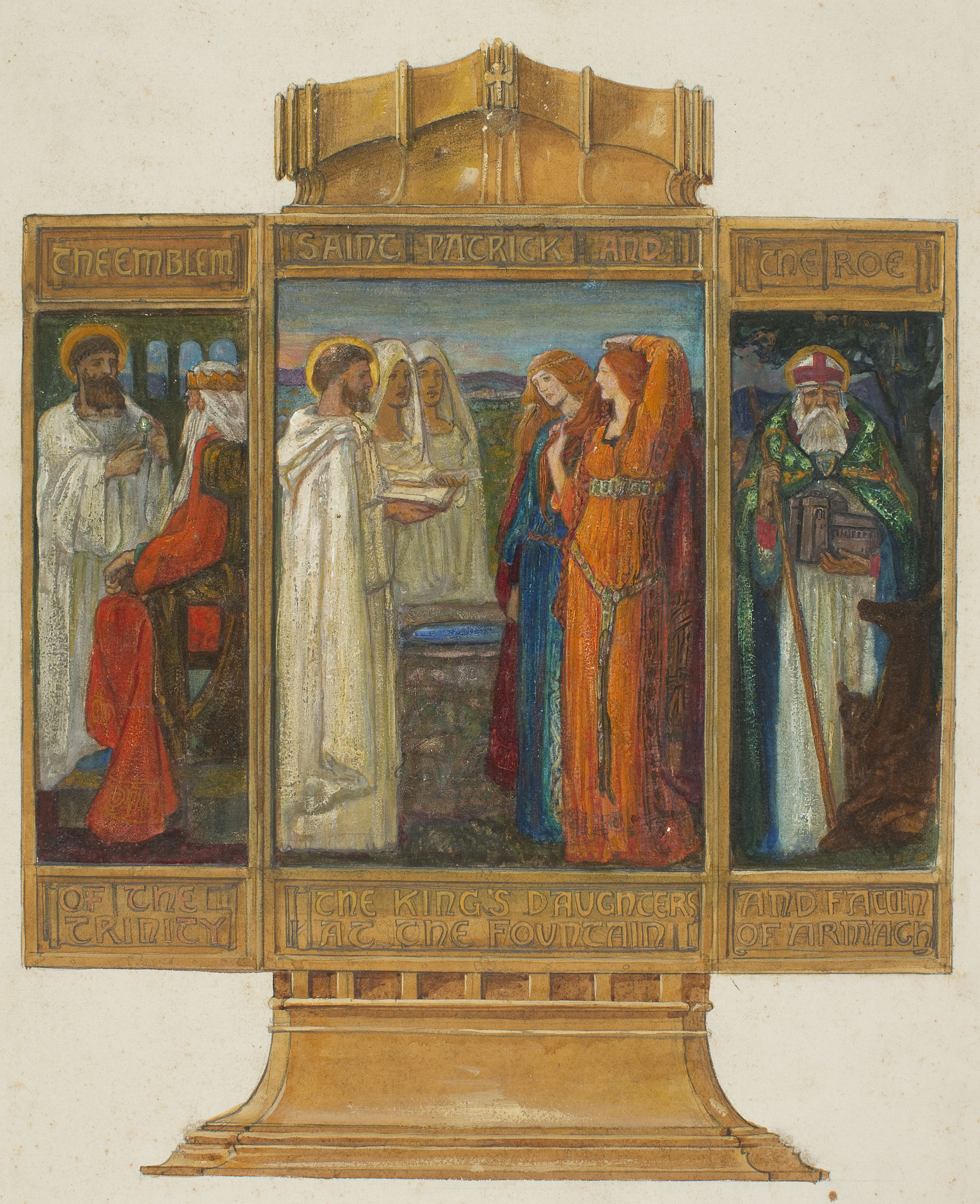 Alexander Fisher, Preparatory study for the 'Enamelled Triptych with Scenes from the Life of Saint Patrick, 1902