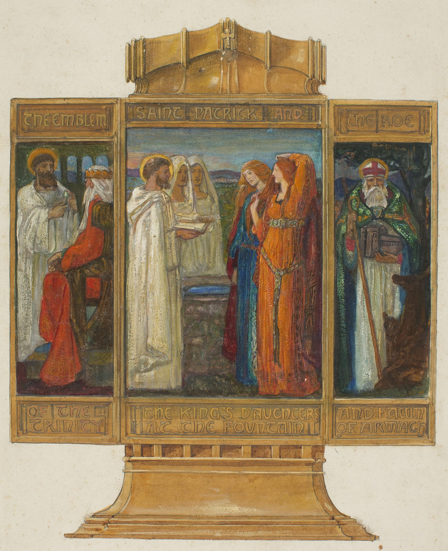 Alexander Fisher, Estudio preparatorio para el «Tríptico esmaltado con escenas de la vida de san Patricio», 1902