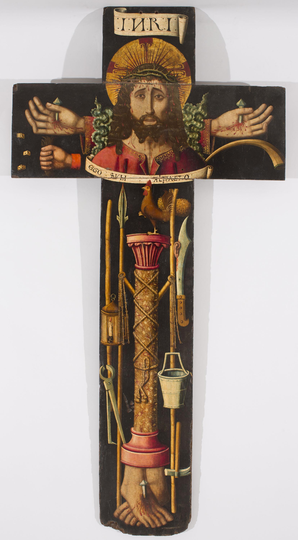 Martín Bernat. Creu processional amb el bust de Crist i els instruments de la Passió, 1477-1505