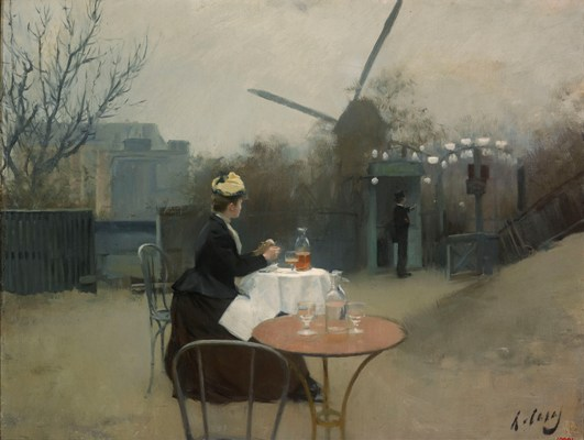 Ramon Casas, Plein air, Paris around 1890-1891