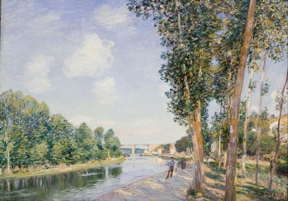 Alfred Sisley, A bend in the Loing, 1892