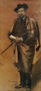Retrat de Pompeu Gener, «Peius»,