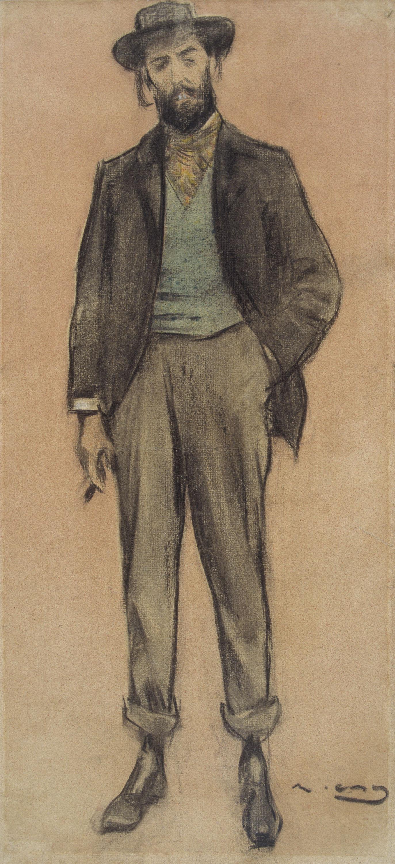 Ramon Casas. Retrat de Pere Romeu
