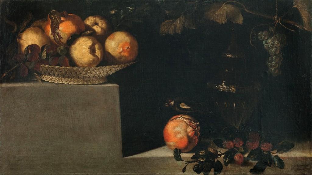 Juan van der Hamen, Bodegón de frutas y jarrón, 1626