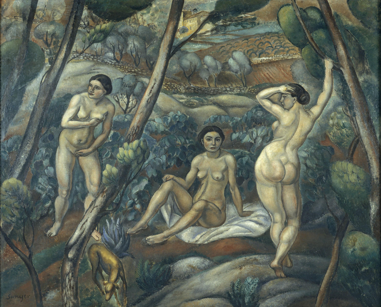 Tres nus al bosc