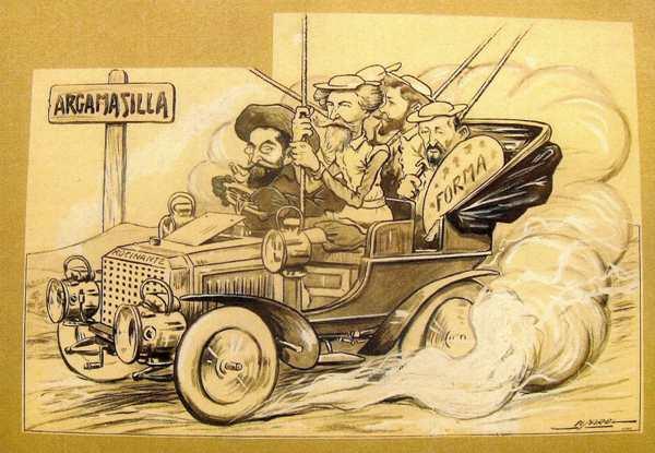 Picarol, L'expedició d'en Rusiñol, Casas i companyia, sense data