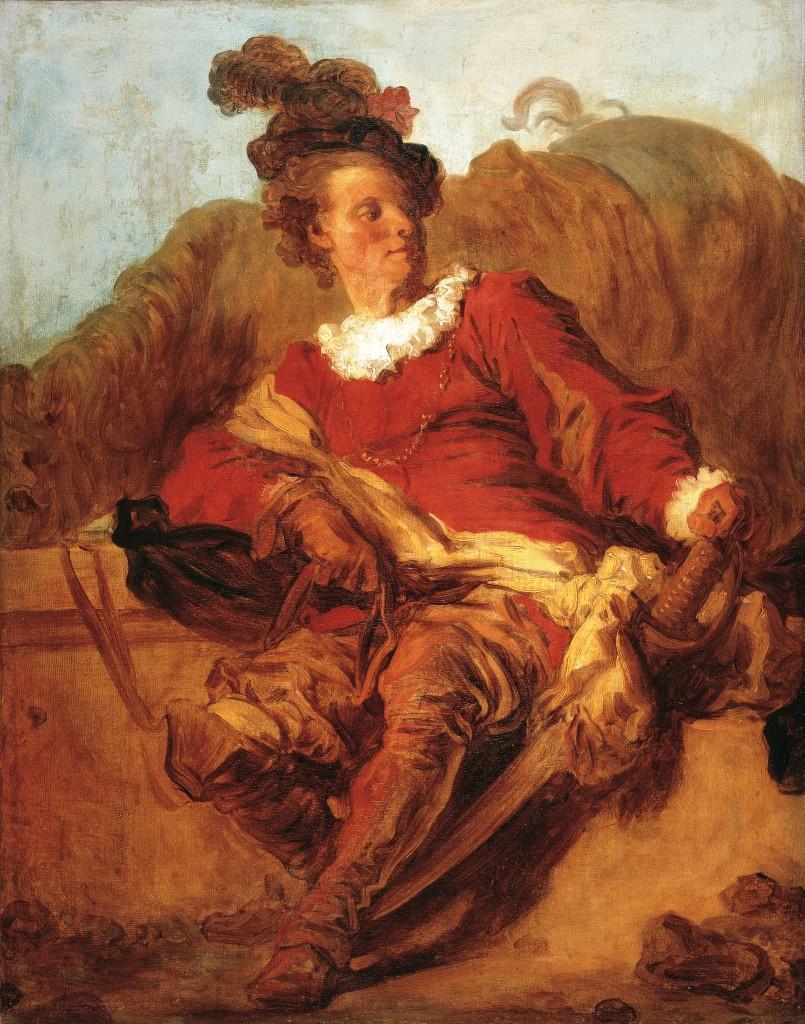 Jean-Honoré Fragonard, Jean-Claude Richard, el abbé de Saint-Non, vestido a la española, hacia 1769