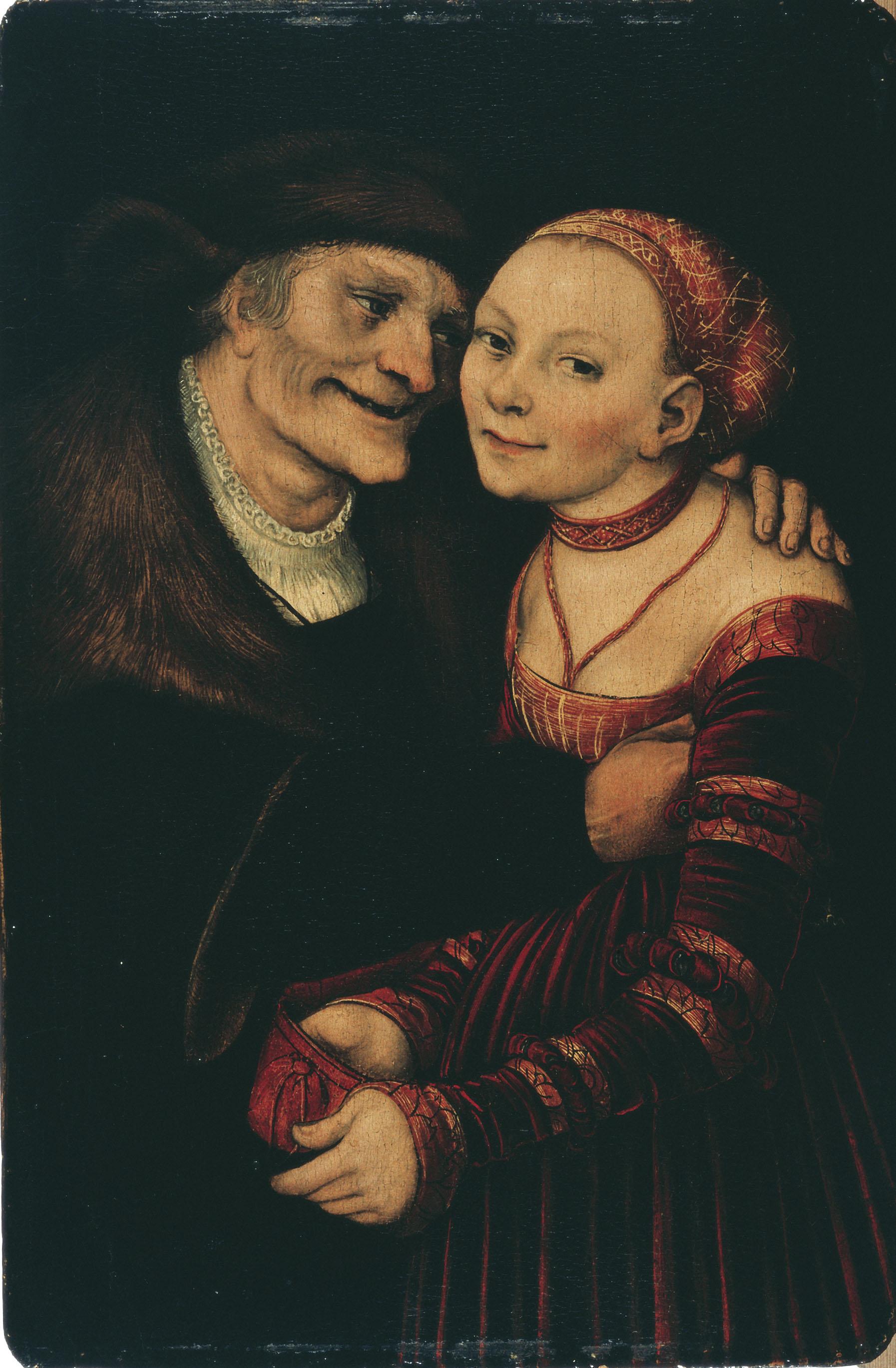 Lucas Cranach (El Vell), Parella amorosa desigual, 1547