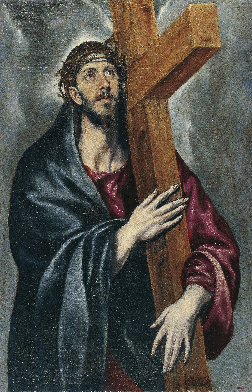 El Greco. Crist amb la creu, 1590-1595