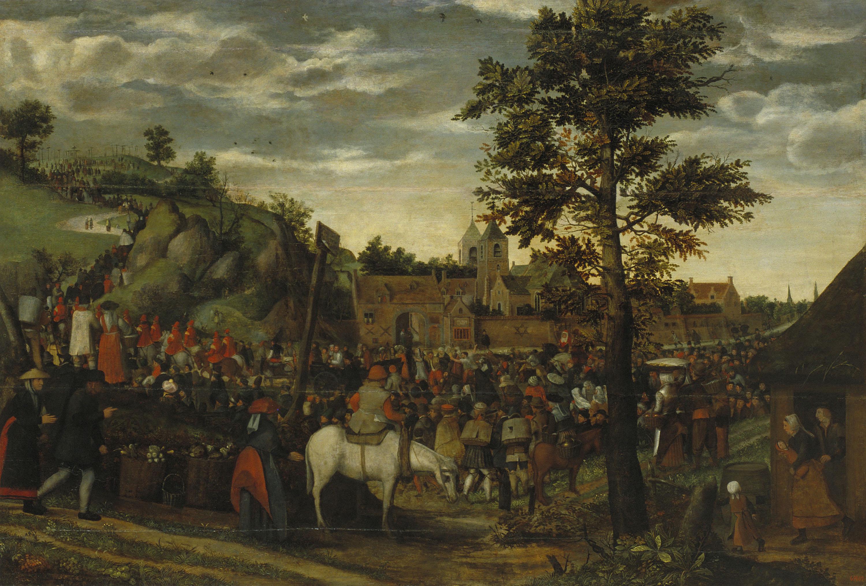 Hans van Wechelen. Camí del Calvari, cap a 1550