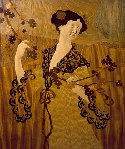 Gaspar Homar, Donzella agafant una branca, cap a 1905