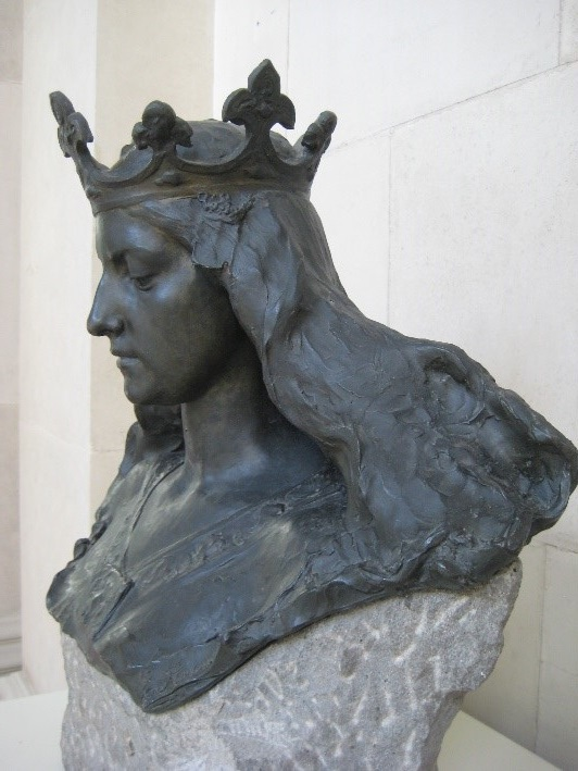 Eusebi Arnau, Busto de matrona representando Barcelona. 1897. Bronce y gres de Montjuïc