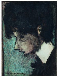 Carles Casagemas. Self-Potrait, c. 1900. Col•lecció Artur Ramon, Barcelona.