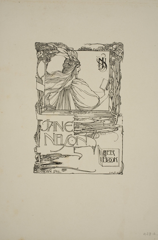 Harold E.H. Nelson, Ex-libris Jane Nelson, 1895