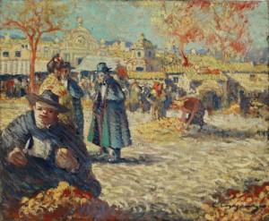 Carles Casagemas. El mercat, c. 1899. Cortesía Fundación Almine y Bernard Ruiz-Picasso para el Arte.