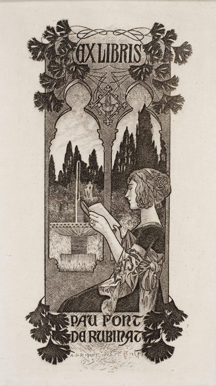 Alexandre de Riquer, Ex-libris Pau Font de Rubinat, 1903