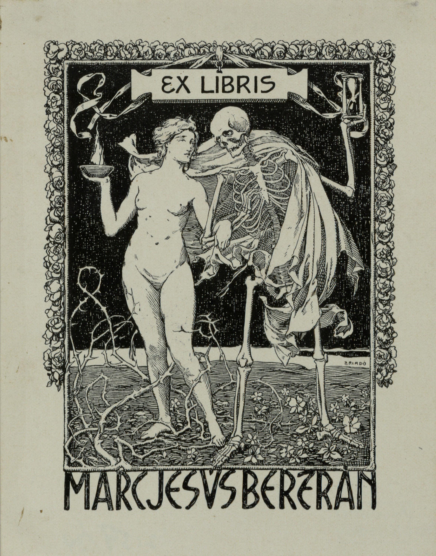 Josep Triadó, Ex-libris Marc Jesús Bertrán, 1901