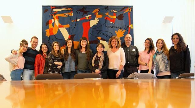 Grupo de este año con la gerente de la Fundació Miró, Dolors Ricart