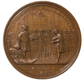 Jean Mauger, L'Ambaixador espanyol reconeix el dret de precedència del rei de França (1662), bronze