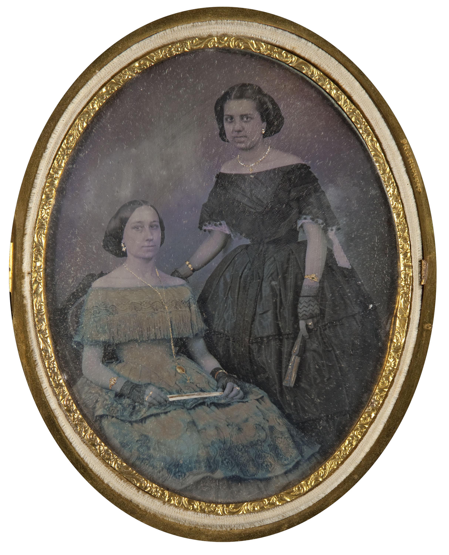 Daguerreotip acolorit, cap a 1860