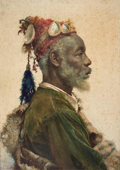 Josep Tapiró, The Darcawi Holy Man from Marrakesh, around 1890-1900