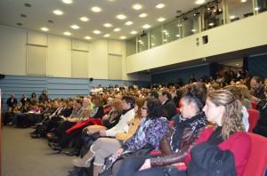 Público asistente al acto, diciembre de 2013