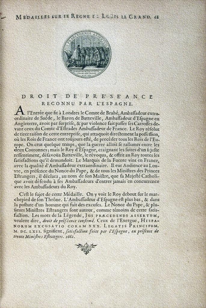 Medailles sur les principaux evenements du regne de Louis le Grand