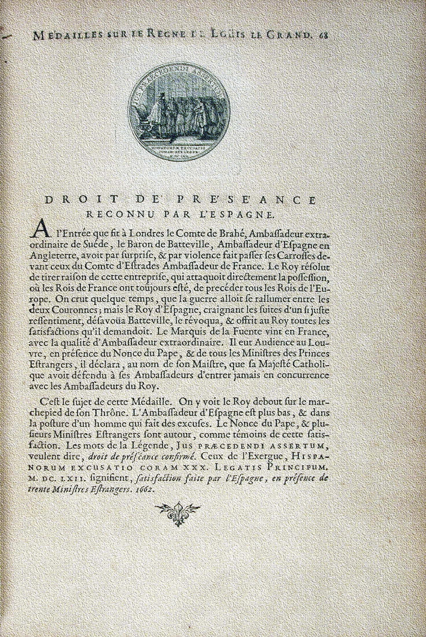 Medailles sur les principaux evenements du regne de Louis le Grand, Paris, 1702