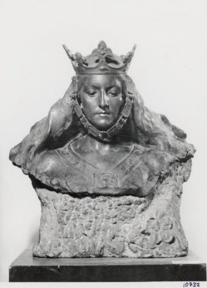 Antiga fotografia del bronze original complet, conservada al museu