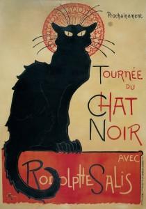 Théophile Alexandre Steinlen. <em>Tournée du Chat Noir avec Rodolphe Salis</em>, 1896.