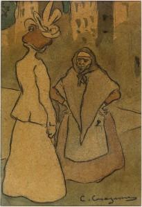 Carles Casagemas. Escena de carrer, 1898-1899. Col•lecció privada Felip Massot.
