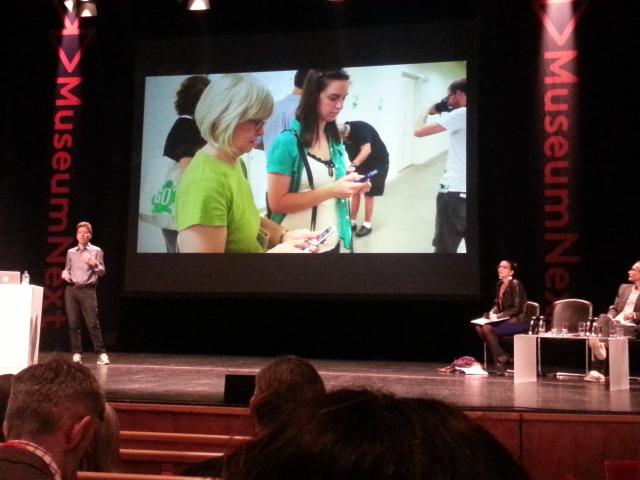 Shelley Bernstein on stage. #MuseumNext. Photo: Conxa Rodà