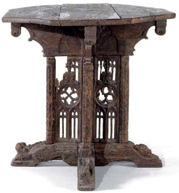 Mesa octogonal desmontable. 1490-1525. París, Musée de Cluny-Musée National du Moyen Âge