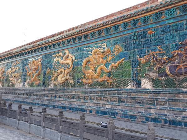 Paret dels 9 Dracs, de 45 mts.de llargada, dinastia Ming, Datong