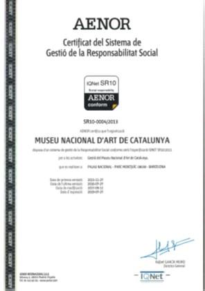 Certificado RSC AENOR