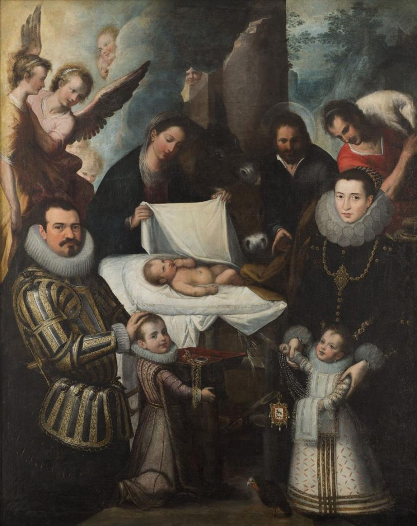 Juan de Roelas, Adoration of Christ With the Ayala Family, between 1600-1610