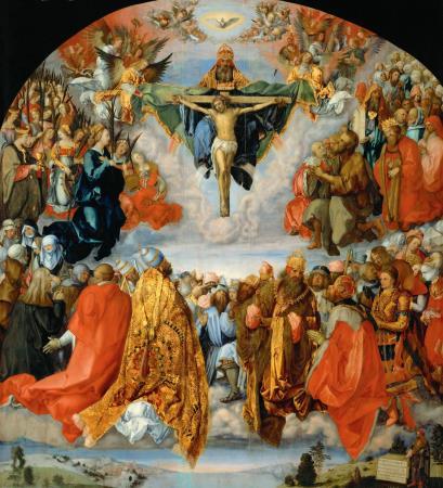 Dürer, Adoration of the Trinity or Altarpiece of All Saints, 1511. Kunsthistorisches Museum