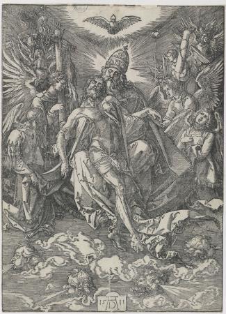 Dürer , The Holy Trinity,, gravat, Biblioteca Nacional de España