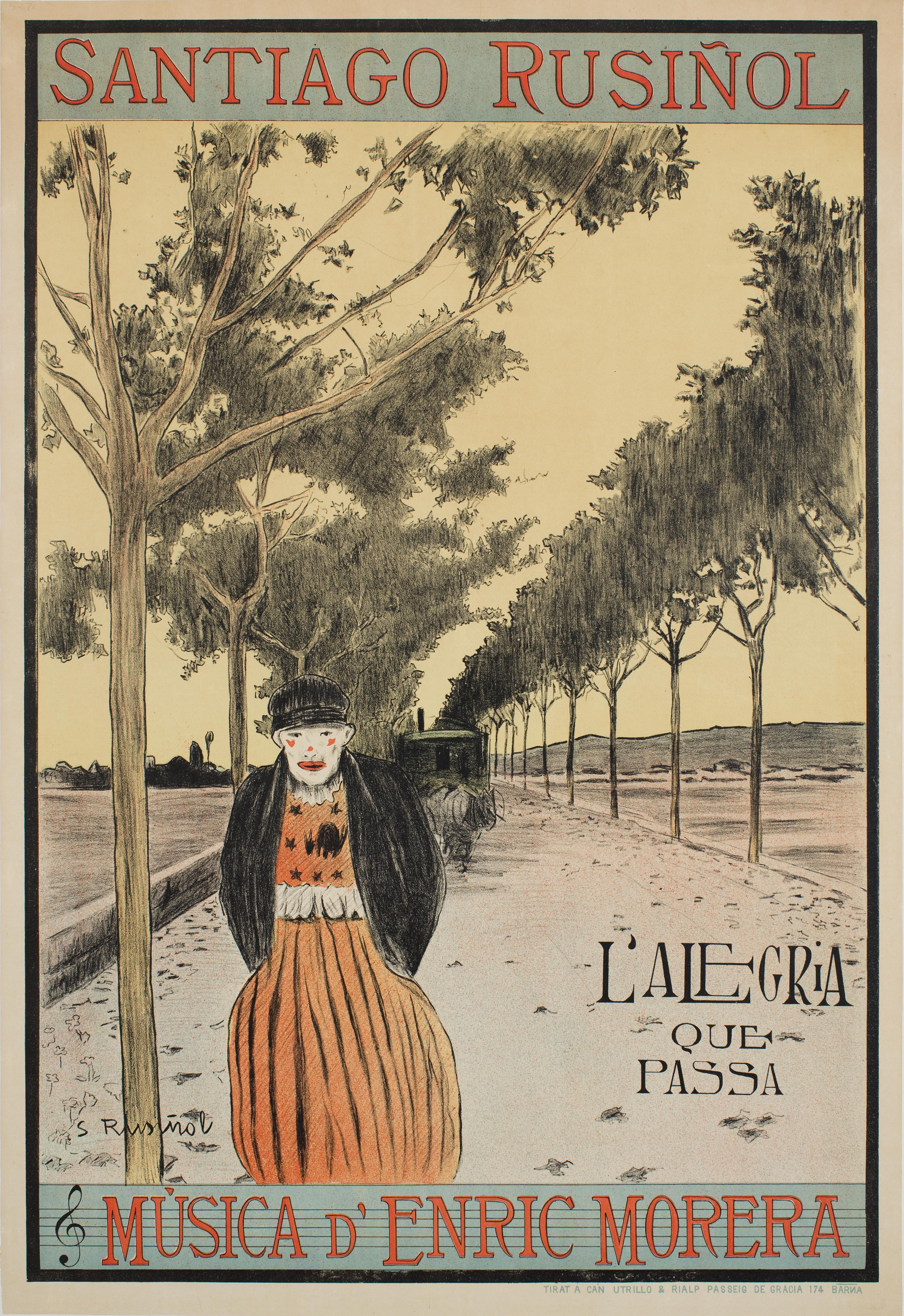 Santiago Rusiñol, L'alegria que passa, 1898