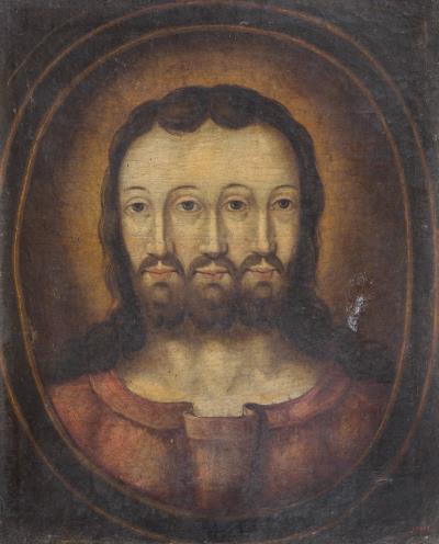 Anònim, Trinitat trifacial, primera meitat del segle XVII
