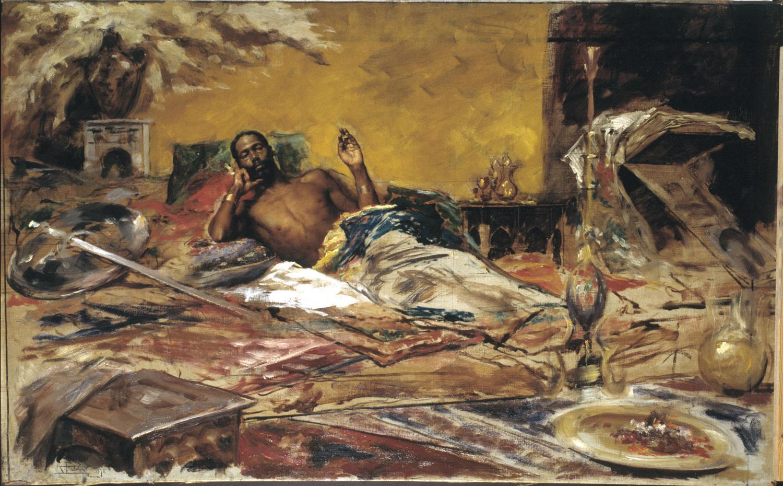 Antoni Fabrés, Repòs del guerrer, 1878