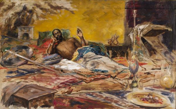 Antoni Fabrés, Descanso del guerrero, Roma, 1878