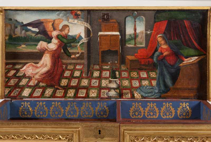 The Annunciation, 16th century. Photograph: CRBMC - Enric Gracia