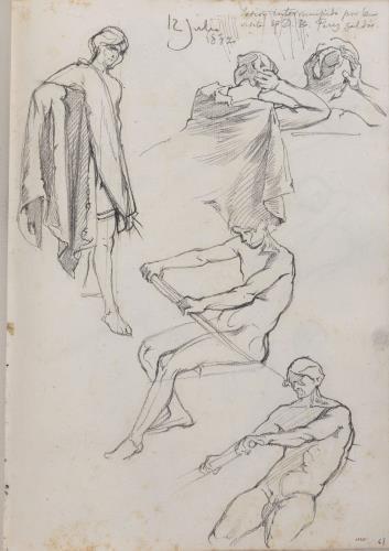 Apel·les Mestres, Estudi de figures, 1882