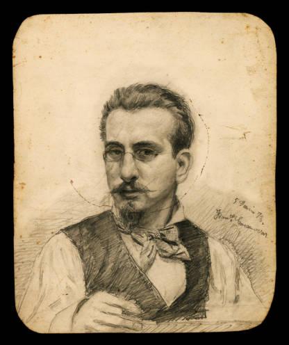 Francesc Casanovas Gorchs, Autoretrat, 1878. Biblioteca de Catalunya