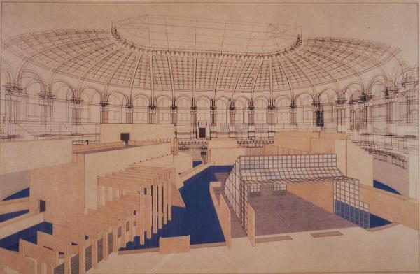 Gae Aulenti's preliminary design, presented in July 1987