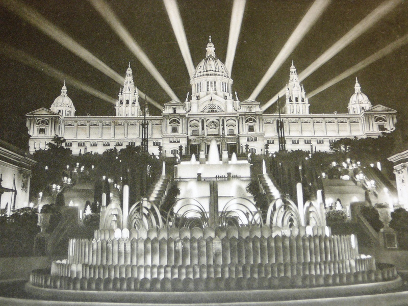 The Palau Nacional in 1929, the year of its inauguration